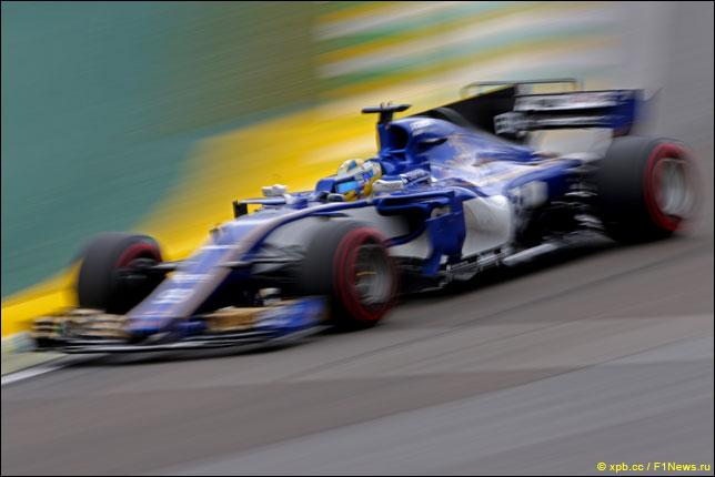 Маркус Эриксон за рулём Sauber