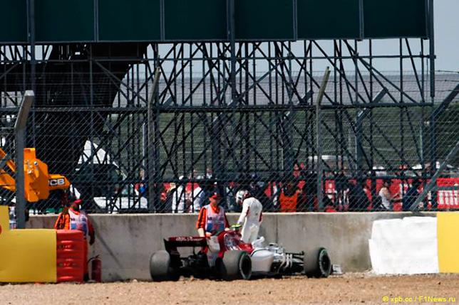 Сход Шарля Леклера на Гран При Великобритании