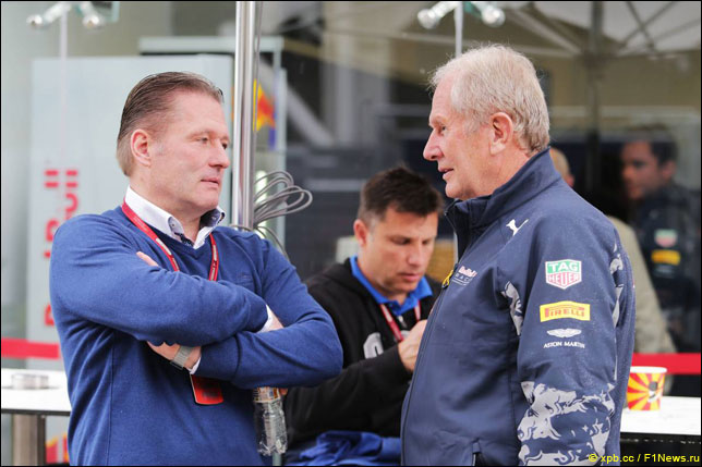 Йос Ферстаппен и Хельмут Марко
