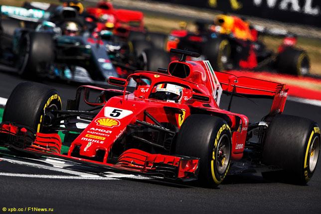 Себастьян Феттель на Гран При Великобритании
