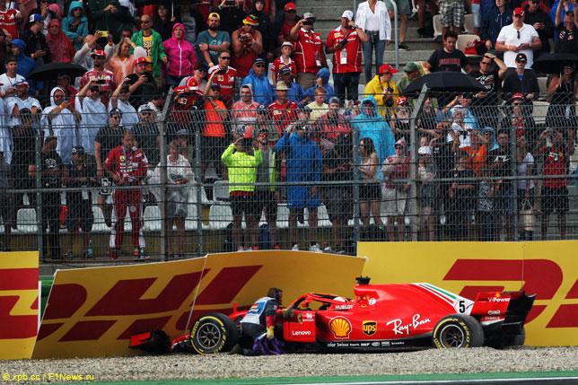 Инцидент Себастьяна Феттеля в прошлогоднем Гран При Германии
