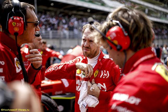 Себастьян Феттель перед стартом Гран При Бразилии