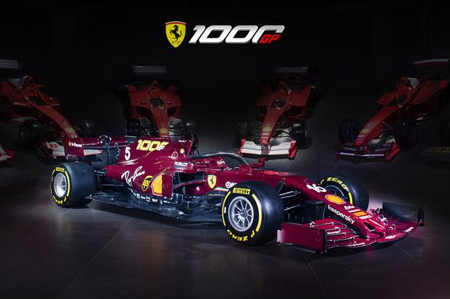 Раскраска Ferrari на Гран При Тосканы