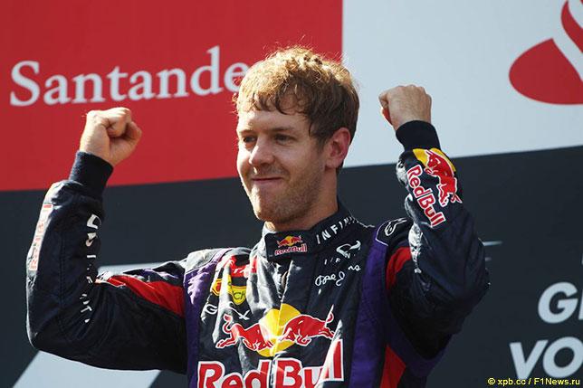 Себастьян Феттель, победитель Гран При Германии на Нюрбургринге, 2013 год