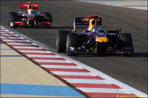 В Бахрейне Себастьян Феттель вынужден был пропустить вперед сначала Фернандо Алонсо, а затем и Льюиса Хэмилтона
