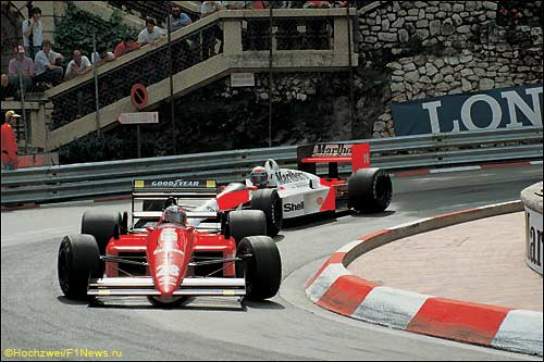 Герхард Бергер за рулем Ferrari, 1988 год