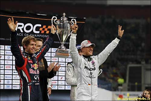 Себастьян Феттель и Михаэль Шумахер - победители Кубка Наций