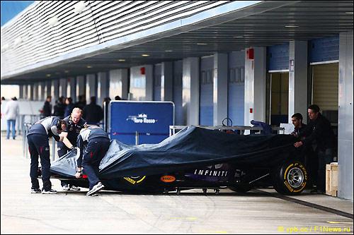 Тесты в Хересе оказались для Red Bull Racing крайне неудачными