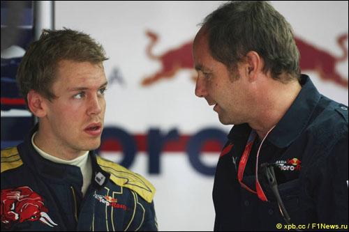 Себастьян Феттель и Герхард Бергер, 2008 год
