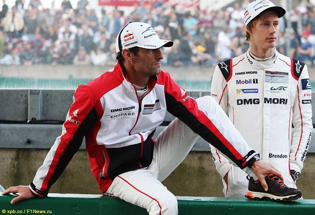 Брендон Хартли и Марк Уэббер во времена выступлений за Porsche в чемпионате WEC