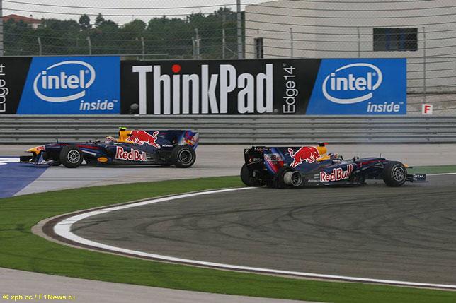 Себастьян Феттель и Марк Уэббер на Гран При Турции 2010 года