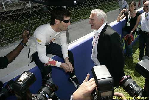 Марк Уэббер и Дитрих Матешиц, хозяин Red Bull