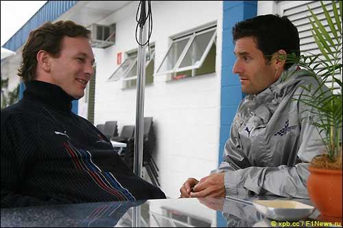 Глава Red Bull Racing Кристиан Хорнер и Марк Уэббер
