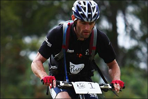 Марк Уэббер на дистанции Tasmania Challenge