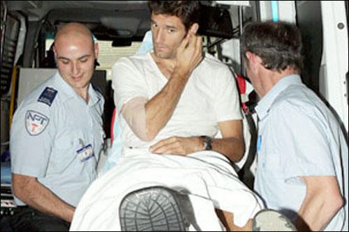 Марка Уэббера перевозят в другой госпиталь