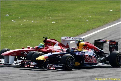 Фелипе Масса и Марк Уэббер на Гран При Италии