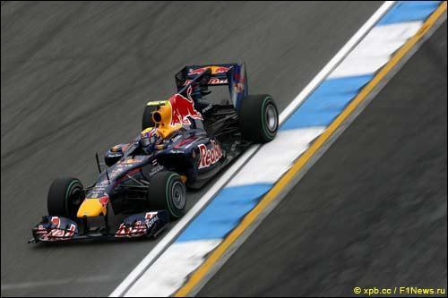 Марк Уэббер на Гран При Германии 2010 года