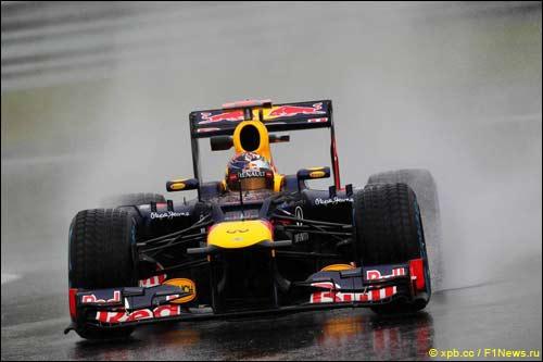 Себастьян Феттель на Гран При Бельгии