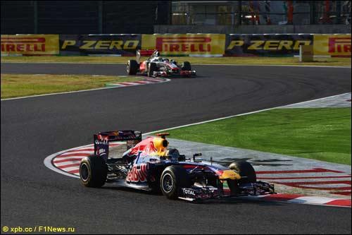 Себастьян Феттель на прошлогоднем Гран При Японии
