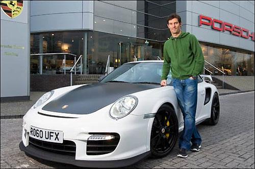 Марк Уэббер и его Porsche 911 GT2 RS