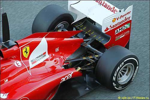 Задняя часть Ferrari F2012