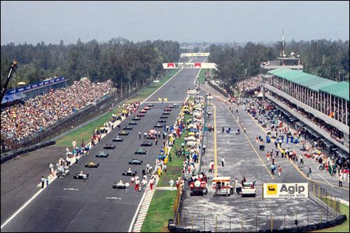 Стартовое поле Гран При Мексики, 1991 год