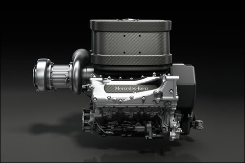 Двигатель Mercedes образца 2014-го года