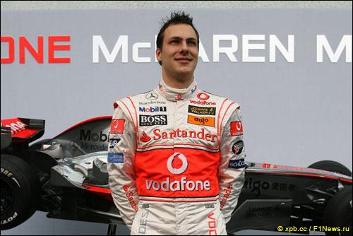 Резервный пилот McLaren Гэри Паффетт