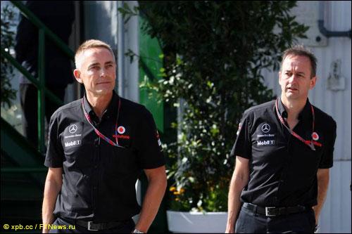 Руководитель McLaren Мартин Уитмарш и исполнительный директор команды Джонатан Нил