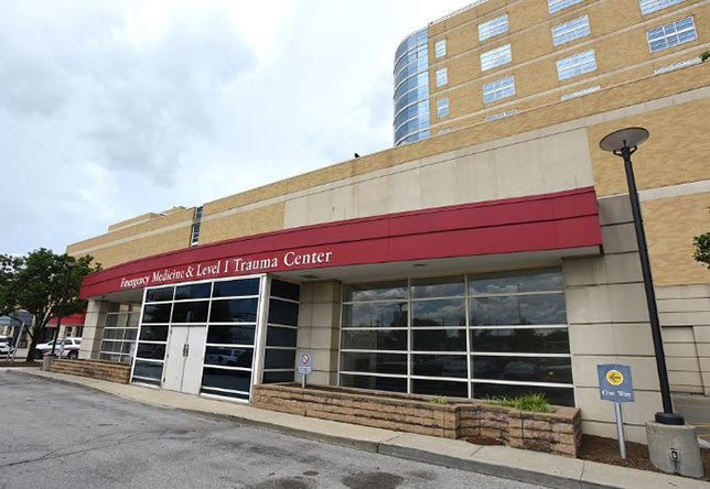Медицинский центр в Индианаполисе, куда доставлен Роберт Уиккенс