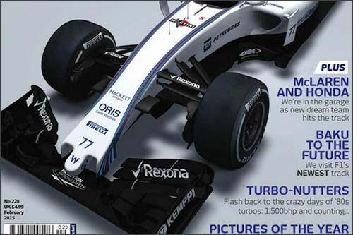 Фото Williams FW37 с обложки февральского номера F1 Racing