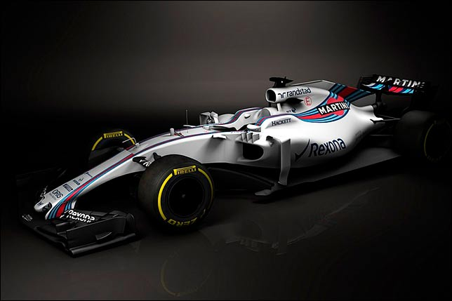 Компьютерный рендеринг Williams FW40. Фото Williams Martini Racing