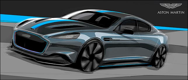 Aston Martin RapidE. Фото: пресс-служба Aston Martin