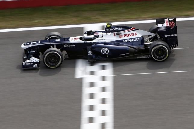 Валттери Боттас за рулём машины Williams, 2013 год