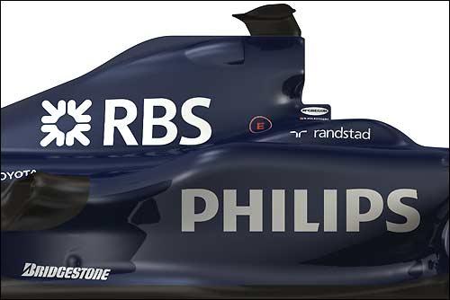 Логотип RBS на новой машине Williams