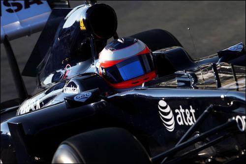 Williams FW33. Рубенс Баррикелло на тестах в Хересе