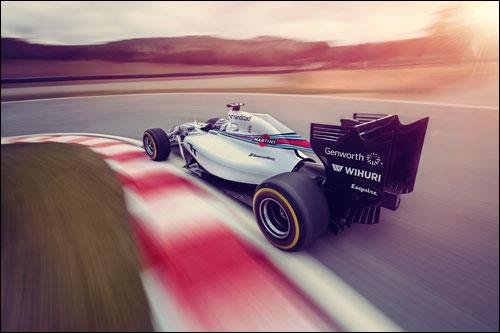 Логотипы спонсоров на машине Williams