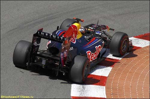Red Bull RB7 на трассе Гран При Монако