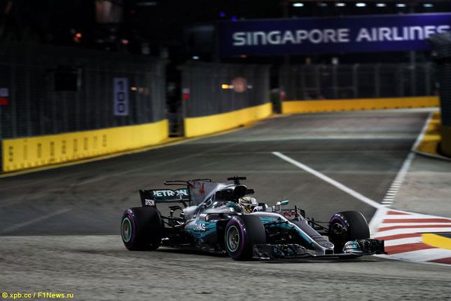 Льюис Хэмилтон на Гран При Сингапура, 2017 год