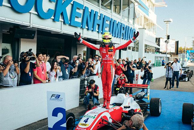 Мик Шумахер после финиша второй гонки в Хоккенхайме