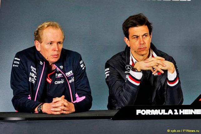 Энди Грин и Тото Вольфф на пресс-конференции в Шанхае