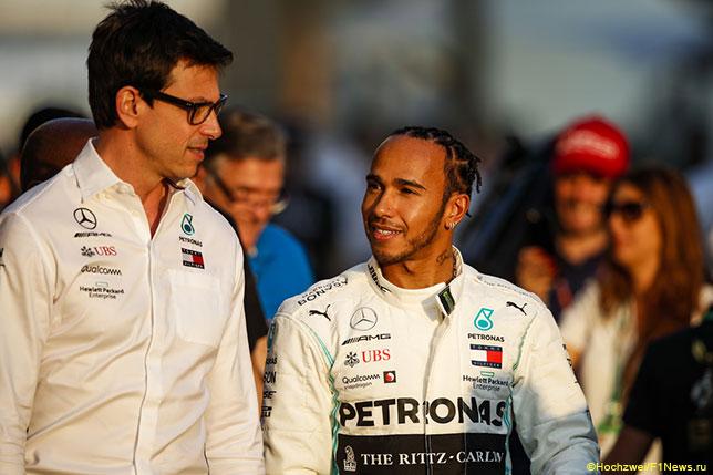 Тото Вольфф и Льюис Хэмилтон на Гран При Абу-Даби